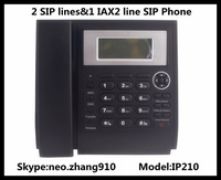 Hot Sale,Elastix compatible,Asterisk SIP IP Telephone,2 SIP and 1 IAX2 Account VoIP Phone,Internet Lan Phone Free Shipping