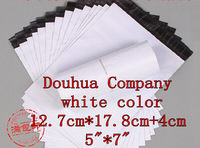 """free shipping C141 12.7X17.8cm+4cm 5""""X7"""" 200pieces white high quality glossy Mailers Padded Envelopes air Bags"""
