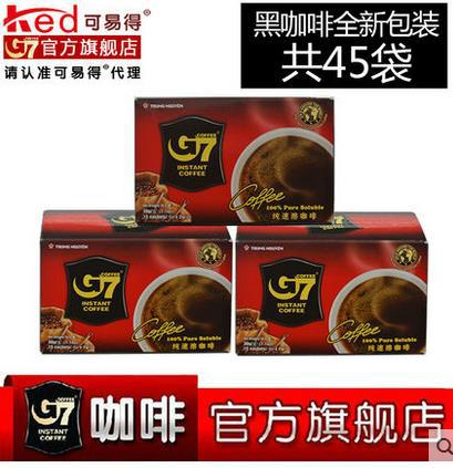 2gx45 bag Vietnam Central Plains G7 black Coffee pure Coffee instant no sugar alcohol products 30g