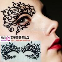 Make-up fashion luxury cosmetic royal velvet paper cutting carbon fiber eye stickers False eyelash Black Blue 50pairs/lot