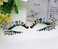 Fashion multicolour cutout False eyelash stickers cute horrors paper cutting eye stickers
