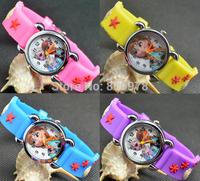 3D Cartoon Lovely Kids Girls Boys Children Students Frozen Quartz Wrist Watch Very Popular