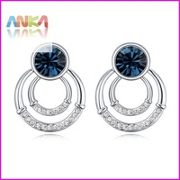 2014 Double Crystal Earrings For Women Free Shipping Wholesale Price Crystal Earrings/make With Austria Elements#110494