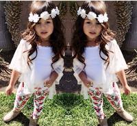 Retail 2015 new arrive baby girls Europe summer set 3 pcs set kids cloth set girls clothing suit children clothing set