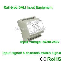 New Arrival!!!High voltage AC90V-240V Rail-type DALI Input Equipment 4 channel 0/1V-10V signal output  4A/CH to control DALI bus