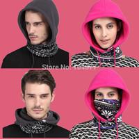 Versatile Polyester Fleece Beanies Skullies Balaclavas Outdoors Motorcycling Skiing Cycling Winter Hats Caps Face Mask Scarf