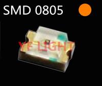 Orange SMD 0805 LED SMT light emitting diodes 600-610nm 2.0-2.5V(CE&Rosh)