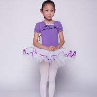 Soft Lycra Short Sleeve Practice Ballet Dress for Girl Ballet Tutu Children Gymnastics Leotard Women Party Dance Costume LD027