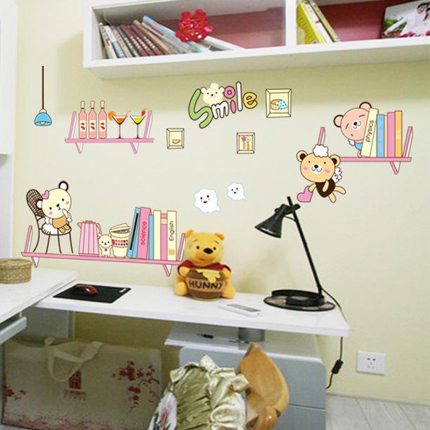 Boekenplank muur promotie winkel voor promoties boekenplank muur op - Kamer wanddecoratie kind ...