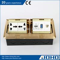 DCT-638/GB IP44 Waterproof Brass Fast Pop Up Type Waterproof Electrical Floor Box