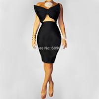 Sexy Party Dress 2014 Vestidos De Festa Women Backless Black Dress Bodycon Pencil Dress Sexy   Bodycon Bandage Dress