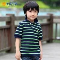 Korean children's clothing boys summer 2014 short-sleeved T-shirt big virgin boys short-sleeved T-shirt