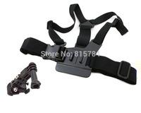 free shippingGoPro Accessories 3-Way Adjustment Base Mount + Adjustable Elastic Body Chest Strap Shoulder Belt forGoPro Hero1 2