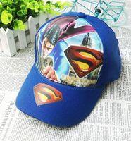 Free Shipping Superman Cartoon Kids Snapback Hats Blue/Red Cool Children's Baseball Cap Fashion cartoon new arrival Boy Hats