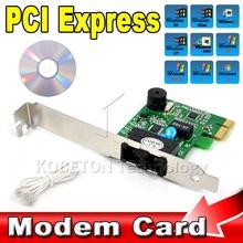 PCI-e Express 56k Dial-up DATA/FAX MODEM ITU T V.92 Adapter Card for Windows Vista XP WIN 7 8 32/64bit(China (Mainland))