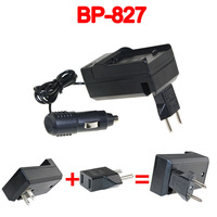 BP-808 BP-809 BP-819 BP-827 Battery Charger+Car charger+Plug adapter For Canon FS21 FS22 FS300 FS31 New