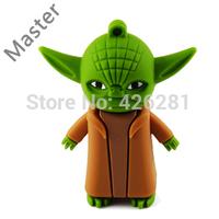 Hot !! PVC Yoda Star war master Usb flash drive Pen drive cartoon Usb memory stick pendrive Usb disk 1GB 2GB 4GB 8GB 16GB 32GB