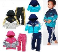 Retail factory price brand children sport suit 2 pcs set children cloth brand children clothing sport set children autumn set