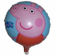 2014 New High Quality Peppa Pig Family Pepa Balloon Classic Toys For Girls Best Gift for Children peppa pig party