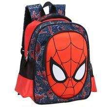 2014 New Arrival cool 3D spiderman cartoon schoolbag good quality kids student 32CM backpack child kindergarten boy bag(China (Mainland))