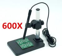 Hot Portable 600X USB Digital Microscope Mini magnification Endoscope with 6LED light Multi-purpose Tripod avp028f6p