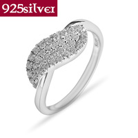 Beautiful Wedding Ring For Women Brand New Real Pure 925 Sterling Silver Ring Luxury & Elegant finger rings Fine Jewelry JR009