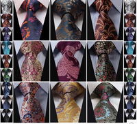 New Floral Paisley Color Silk ties for men Jacquard Woven Gravata Classic ties for men Necktie