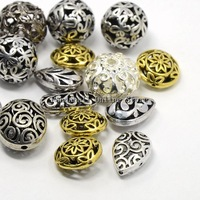 Mixed Shapes Alloy Filigree Hollow Beads Nickel Free Mixed Color 20PCS/Lot