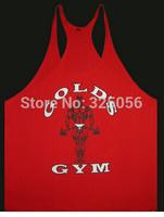New 2015 Professional bodybuilding spaghetti straps halter vest Men tank tops Fitness cotton golds gym vest