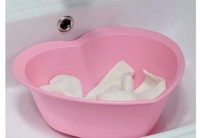 Lovely heart-shaped lavatory 2.5 L plastic bathroom toilet the basin that wash a face wash tub