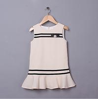 Baby Girls Elegant England Style Vest Brief Dress, Princess Formal Lady Apricot&Rose Wear, 5 Pcs/lot, Free Shipping