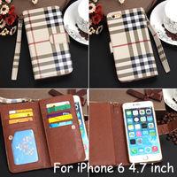 For Apple iPhone 6 Case High Quality Luxury Brand Leather Wallet case With Card Holder Stand Flip cover for iPhone 6 4.7inch