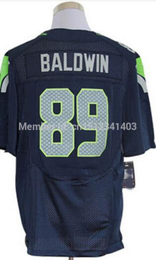 Size XS-5XL #89 Doug Baldwin Jersey Blue Seattle American Football Jersey,Authentic Jersey Embroidery Logo Free Shipping(China (Mainland))