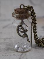 Fairy bottle necklace legend of zelda April birthstone clear NK220