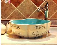 Ceramic art stage basin decoration materials Petals small toilet lavabo fashion