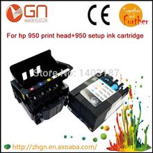 New Combo set original 950 print head + 950 setup ink cartridge for HP printer (1 PC printerhead +1 set ink cartridge)