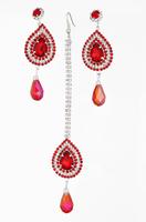 Indian Bridal Jewellery Rhinestone Earring Set Crystal Stud Headpiece Bollywood Wedding Dancing Belly Dance Accessories Jewelry