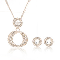Min order is $10(mix order) European and American jewelry hollow section necklace and earrings for women white top quality