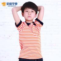 Kids Children's T -shirt cotton 2013 new summer children's short-sleeved T-shirt boys POLO shirt Korean English Goeuriot