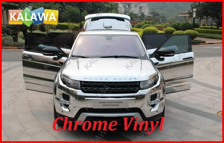 1 pc 1.52MX50CM Silver Chrome Car Sticker MIRROR Film Silver Chrome Vinyl Film with bubble free Chrome Film TTT(China (Mainland))