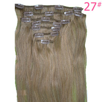 """8 Pieces/set Straight Clip in Natural Hair Extensions, 12"""" Remi Clip on Hair Extension, 85 Grams/set Clip ins, Free Shipping"""