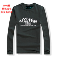2014 most popular new casual menswear selling high quality men's O-neck long-sleeved men t-shirts