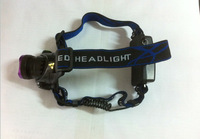 TM-815A headlights CREE XM-L T6 1800LM 3-MOE LED Headlamp use 18650 Rechargeable battery + charger