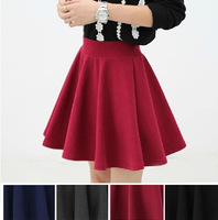 Women's Fashion Autumn and Winter Thickened High Waist Pleated Skirt  Fashion All Matched Skirts for Female