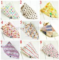 Retails free shipping (New arrival 4 DESIGNS) 3pcs set baby bibs 3designs mixed infant saliva towel 100% cotton Original brand