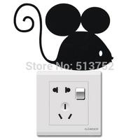 Black Mouse Light Switch Sticker /Children/Nursery/Wall Stickers Modern Art