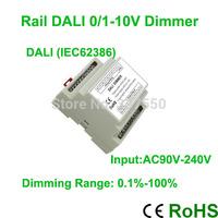 New Arrival!!!High voltage AC90V-240V led DALI dimmer controller four channel 0/1V-10V signal output ,2A/ each channel
