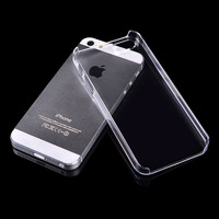 Hot sale New 2014 Transparent Case For iPhone 5 Hard Plastic Crystal Clear Luxury Protective Cover Phone Cases