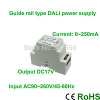 Brand NewAC90~260V Input Rail DALI Power Supply/Lighting transformer 17V Output 4.25W 0~250mA,1 channel
