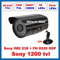 HD Sony 1200TVL 48 Leds Outdoor Waterproof Video Surveillance IR-CUT Filter Security Night Vision IR 35 Meters CCTV Camera
